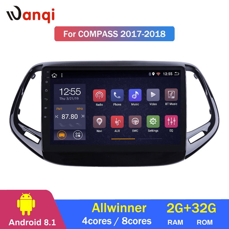 2G RAM 32G ROM 9 inch Android 8.1 for Jeep Compass 2017 2018 Car GPS Navigation Radio Audio Multimedia System2G RAM 32G ROM 9 inch Android 8.1 for Jeep Compass 2017 2018 Car GPS Navigation Radio Audio Multimedia System