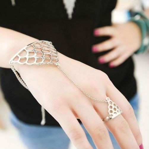 b103 ring bracelet rings and bracelets attached 12pcs lot