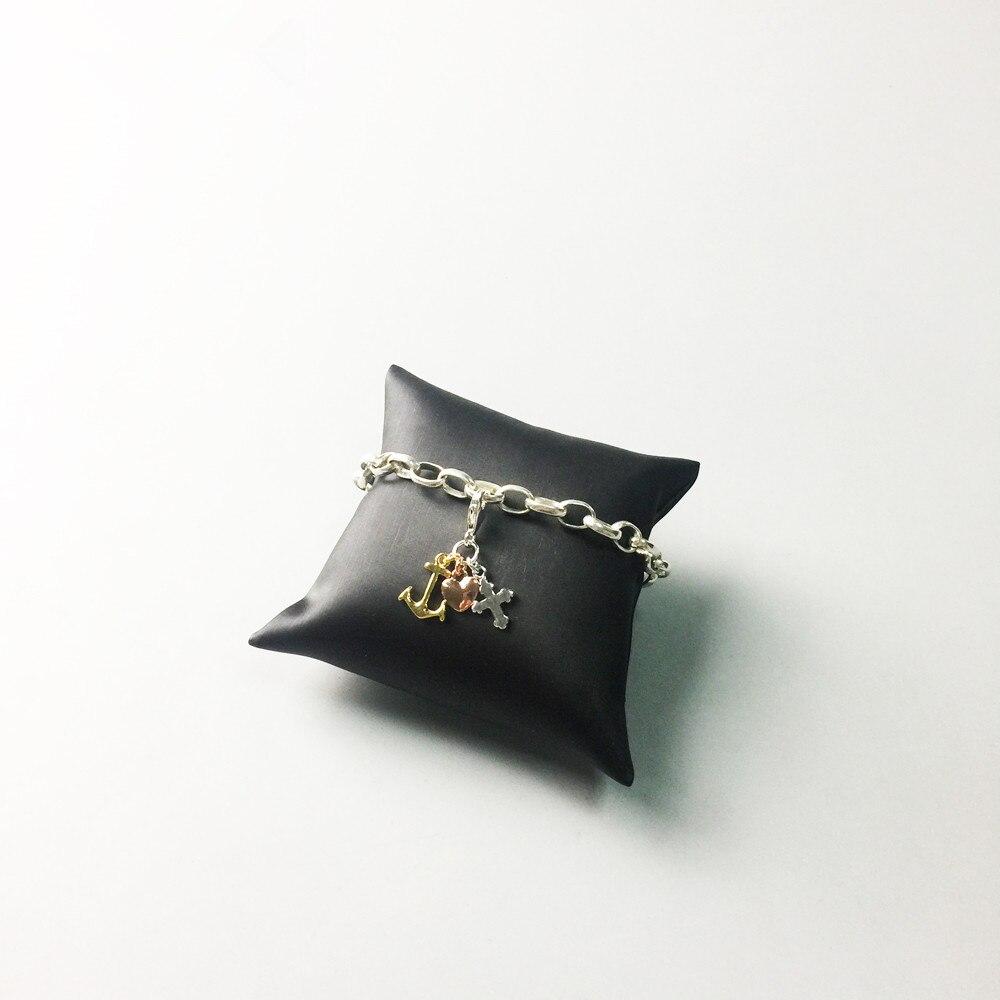 8d220ab0ce80 Muffiy creencia marca amor esperanza Cruz del corazón encanto para collar  pulsera cubic zirconia chaveiro piercing mujeres joyería amante regalo