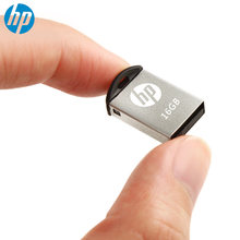 HP OTG USB Flash Drive 16gb pendrives Metal Memory Stick v222w Micro M2 multi disk with tipo C Super mini Cle USB Pen drive 16G(China)