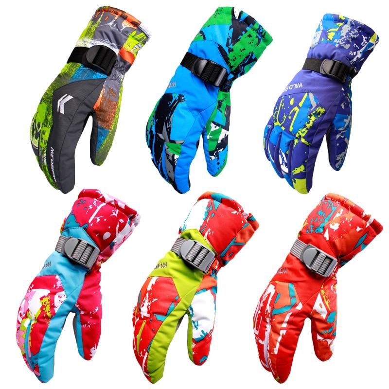 New Men's Ski Gloves Snowboard Gloves Motorcycle Riding Winter boys girls ski Gloves Windproof Waterproof Unisex Snow Gloves