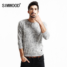 SIMWOOD 2016 new autumn winter sweater men pullovers brand clothing long sleeve pattern O-neck MY2018