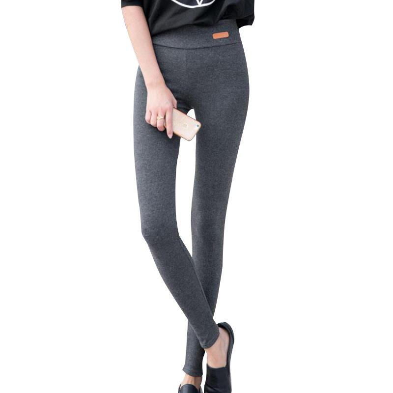 2018 új divat Magas elasztikus derék Téli plusz vastag női nadrág meleg nadrág jó minőségű vastag nadrág Női