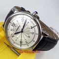 43mm debert white dial blue hands 21 jewels miyota Automatic mens wrist Watch D3