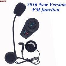 2016 New Updated FM function! Bluetooth Intercom Motorcycle Helmet Bluetooth Headset Full Duplex intercomunicador bluetooth moto