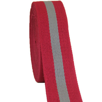 cotton webbing 2 inch wide 50mm width high quality wholesale twill tape red/grey color 50 yards