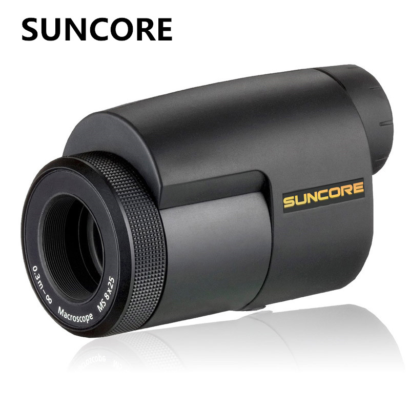 SUNCORE dawn high quality 8X25 HD zoom travel vision monocular telescope outdoor tourism sightseeing adventure equipment suncore water resistant 12 x 25mm monocular telescope