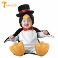 TWINSBELLA Baby Romper 2017 New Fashion Infant Animal Penguin Cosplay Costume Child Autumn Winter Christmas Jumpsuit Clothing