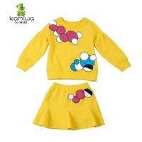Children S Clothing Female Child Autumn Set 100 Child Cotton Sweatshirt Set Sports Casual 2015 Child
