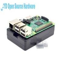 Raspberry Pi 3 Model B Board Black Shell Heat Sinks 1GB LPDDR2 Quad Core WiFi Bluetooth
