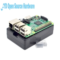 Raspberry Pi 3 Model B Board Black Shell Heat Sinks 1GB LPDDR2 Quad Core WiFi Bluetooth