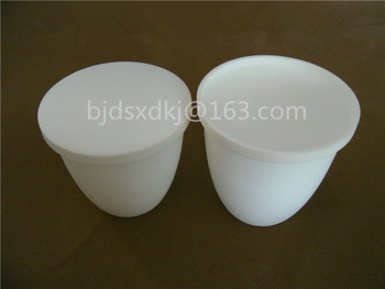 99.3% alumina crucible / 250ml / with lids / Arc-Shaped / corundum crucible / Al2O3 ceramic crucible / Sintered crucible фото