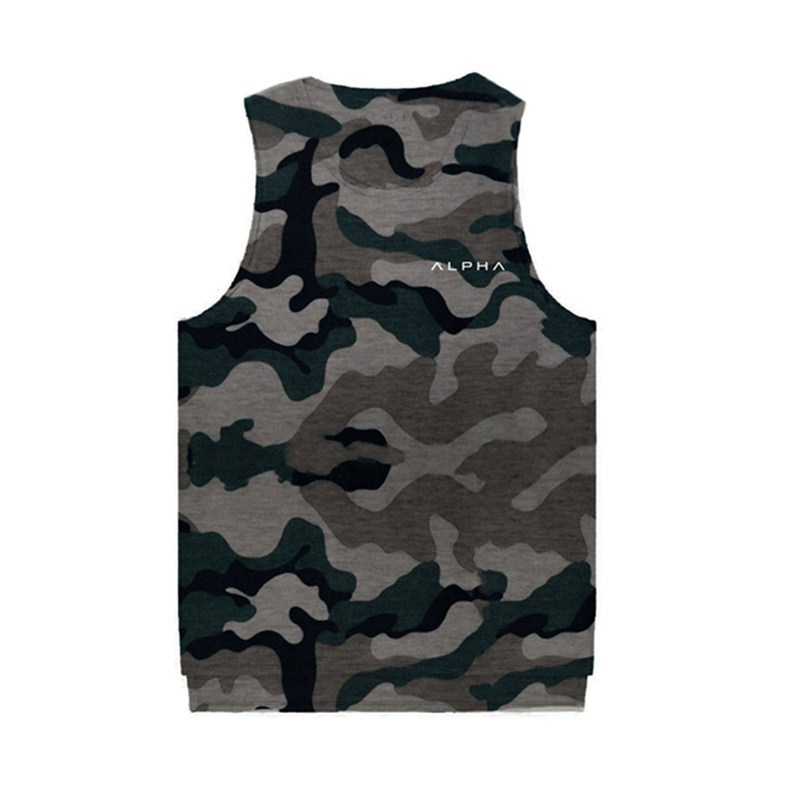 YEMEKE 2019 Men camouflage Clothing Gyms   tank     top   men Fitness Sleeveless Shirt Cotton men undershirt fashion cotton vest