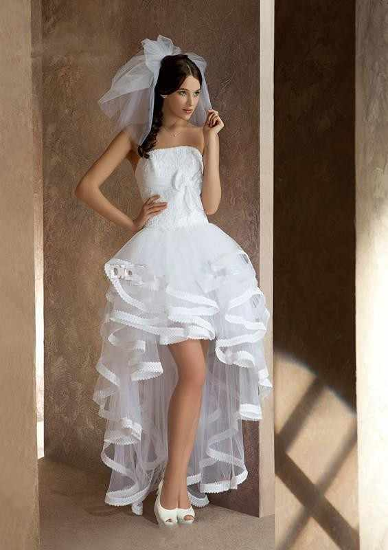 9357b997801 Vestido de novia High Low Beach Wedding Dresses Open Back Strapless Short  in front long Bridal