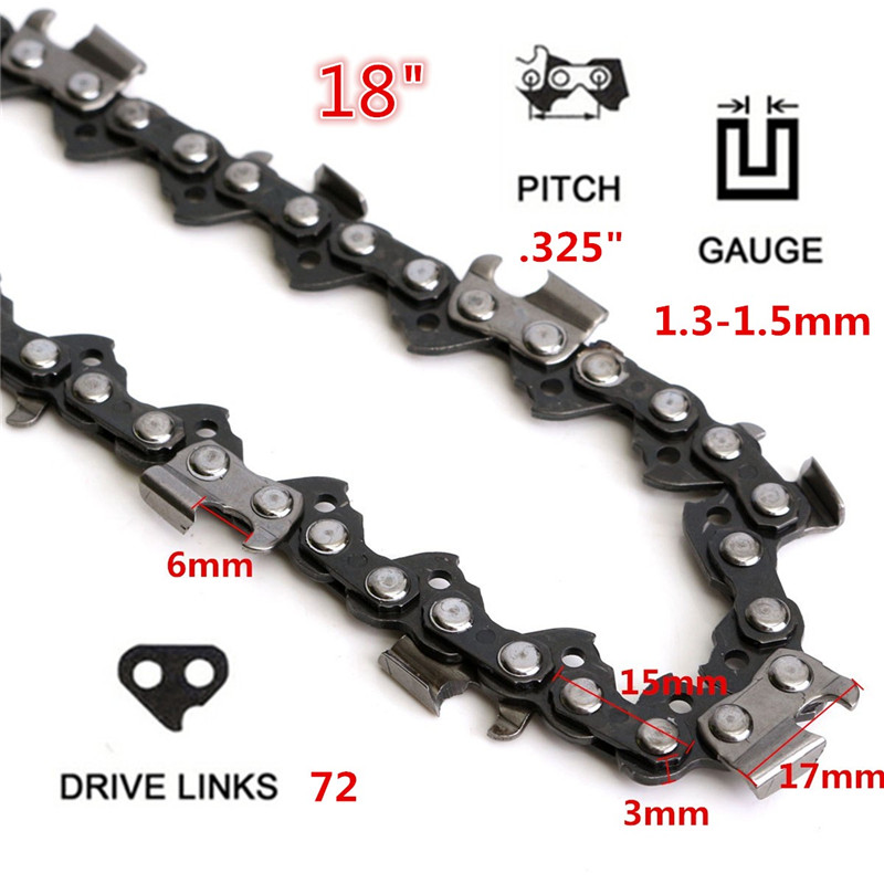 72 Link Chainsaw Saw Chain Metal Fits For Chinese Import 4500 & 5200 Etc For Use On Portable Chain Saw Mills Surface Smooth
