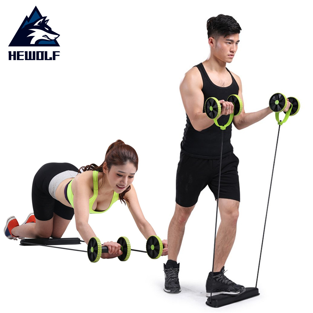 Hewolf In Home Portable Multifunction Abdominal Training Pull Rope Build Curve Body Health Sport Pull Rope Muscle Trainer hot