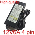 1pcs High quality 12V 6A IC solutions  AC /DC Converter Adapter Power Supply for LCD monitor Flat Panel TV 4Pin