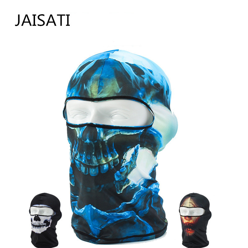 JAIASTI Quick Dry Absorbing Outdoor Sports Cycling Mask Windproof Fishing Motorcycle Sunscreen Face Mask protective outdoor war game military skull half face shield mask black