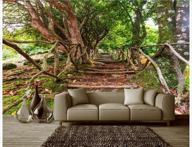 Customized D Photo Wallpaper D Wall Mural Wallpaper Banyan Tree Rural Natural Scenery Background Wall D