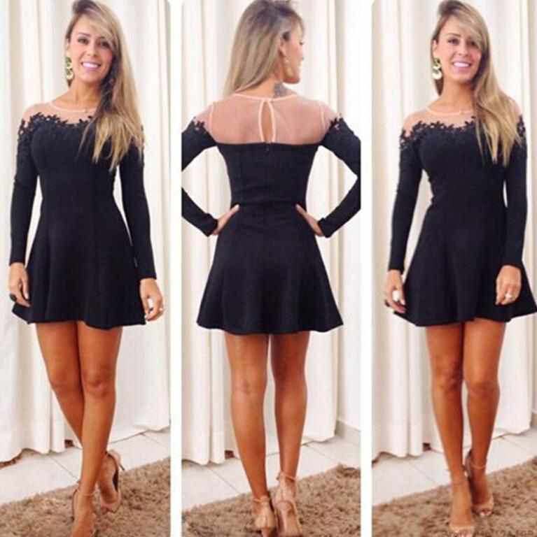 Popular Black Long Sleeve under Dress-Buy Cheap Black Long Sleeve ...