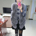 Genuine fox fur vest women natural real fox fur vest winter real fox fur coat