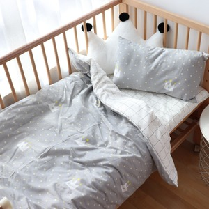 Image 2 - Baby Bedding Set Nordic Baby Items For Newborns Cotton Kids Crib Bedding Set With Bumper Nursery Decor Baby Bed Linen For Infant