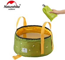 NatureHike Outdoor Camping Hiking Travel Folding Water Bucket Washbowl Fishing Basin Bags Pot 10L/16L