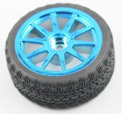F05099 DIY intelligent Car Robot Accessories: high quality 65 mm Rubber Car Wheel Tire + FS