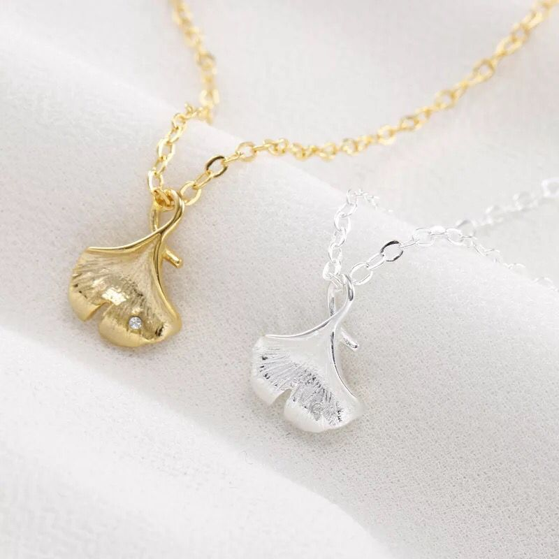 New ginkgo leaf necklace female clavicle chain simple gift jewelry DS02