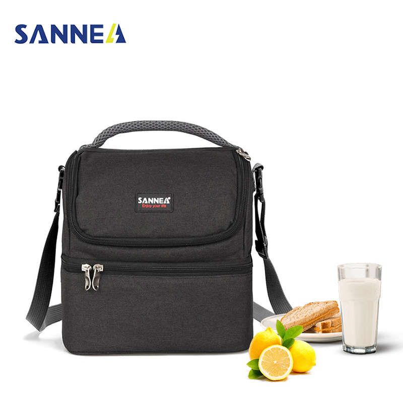 SANNE 7L Adult Lunch Box Insulated Lunch Bag for Men Women Double Deck Cooler Food Tote for Work-for Sandwich Fruit Drink animal food fruit picks forks lunch box accessory decor