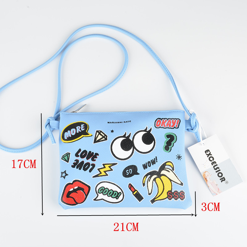 EXCELSIOR Casual Mini Damentaschen Hot Cartoon Graffiti Printed - Handtaschen - Foto 6