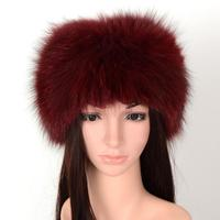 Real fox fur headbands women ladies hat with fur winter fur hats female fur scarves 10 colors S220