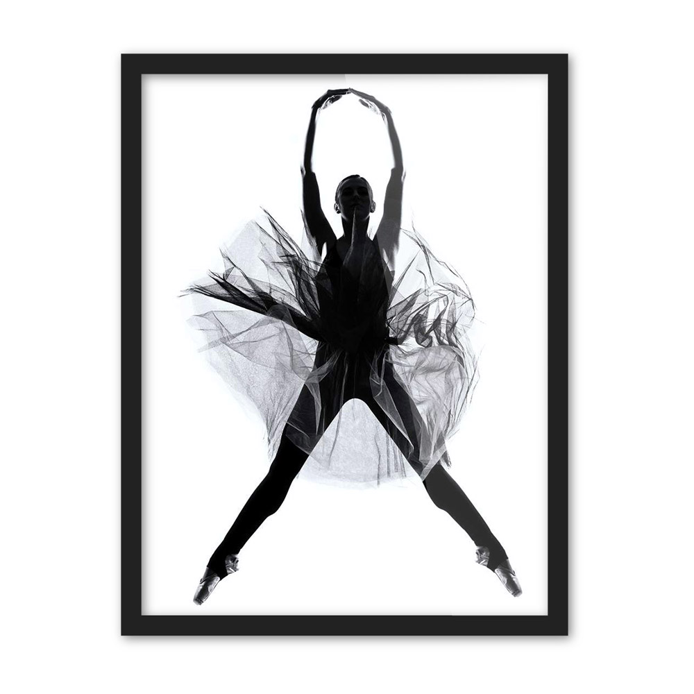 modern minimalist black white ballet dancer photo a4 art print poster wall picture canvas. Black Bedroom Furniture Sets. Home Design Ideas