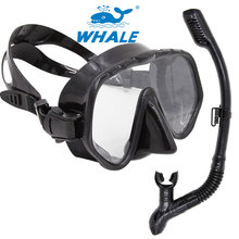 Whale Brand Professional snorkel and mask Swimming Diving regulator Protective Breathing Tube Snorkeling goggles scuba mask Set