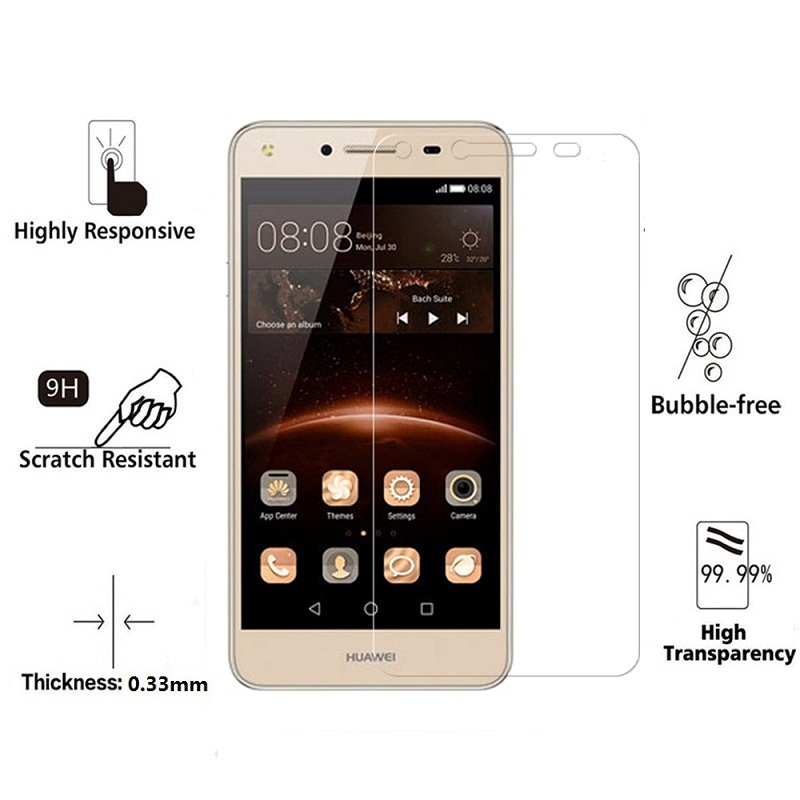 Image 2 - 2PCS For Huawei Y5II Y5 ii CUN U29 CUN L21 CUN L01 9H Tempered Glass Y6 II Compact Honor 5A LYO L01 Screen Protector cover Films-in Phone Screen Protectors from Cellphones & Telecommunications