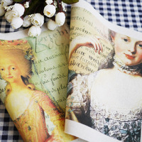 Lady Victoria - 2pcs Design Assorted Printed Cotton Quilting Linen Fabric 20x20cm for DIY Sewing Patchwork Home Textile Decor