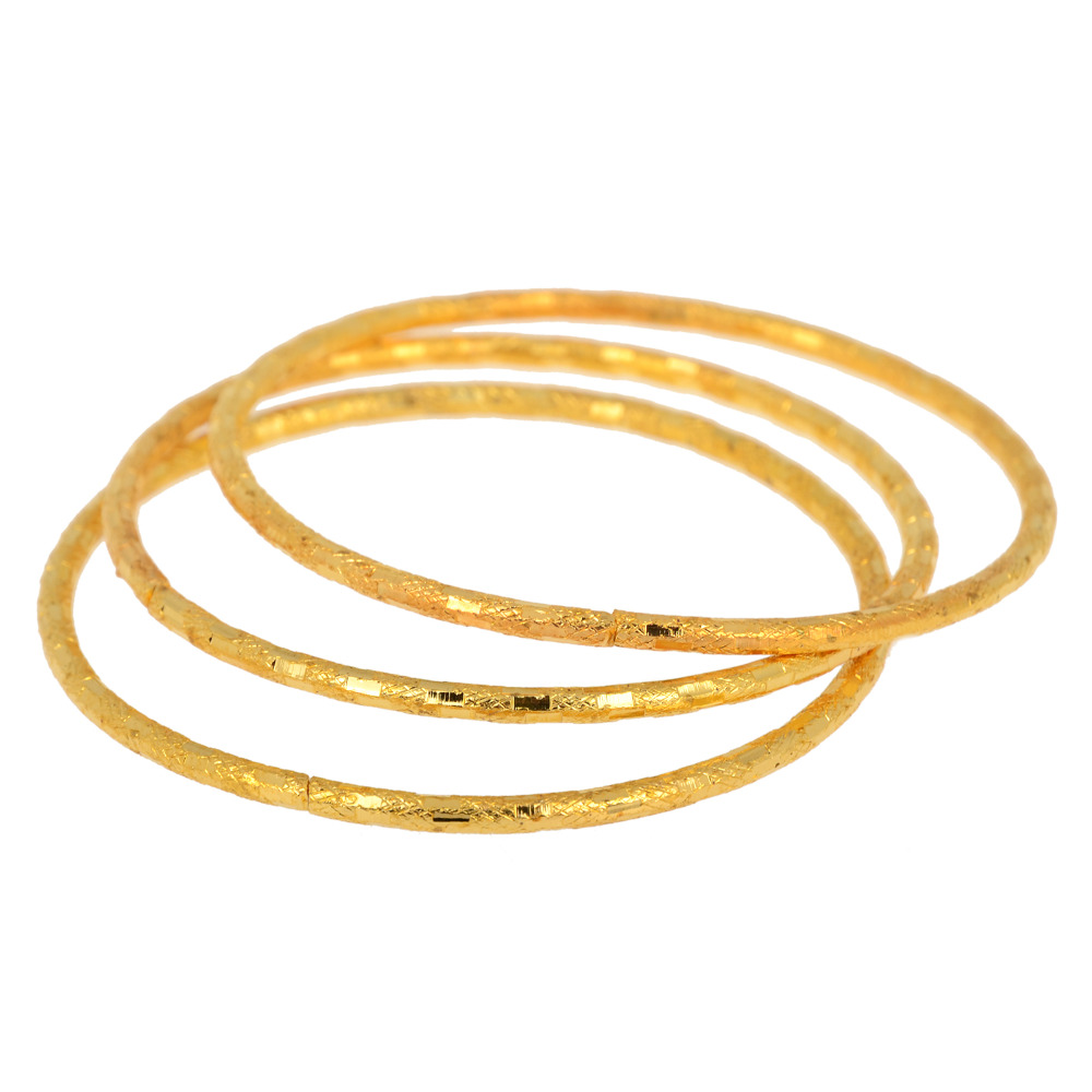 3Pcs/Set Hot Design Gold Silver Color Alloy Children Bangles Fashion Simple Bracelets Bangles For Baby Girl Fashion Accessories