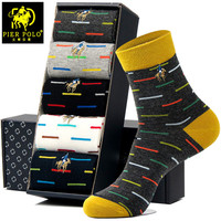 Casual Mens Socks Chromatic Stripe 5 Pairs Of Socks Man With The Final Design Clothing Fashion