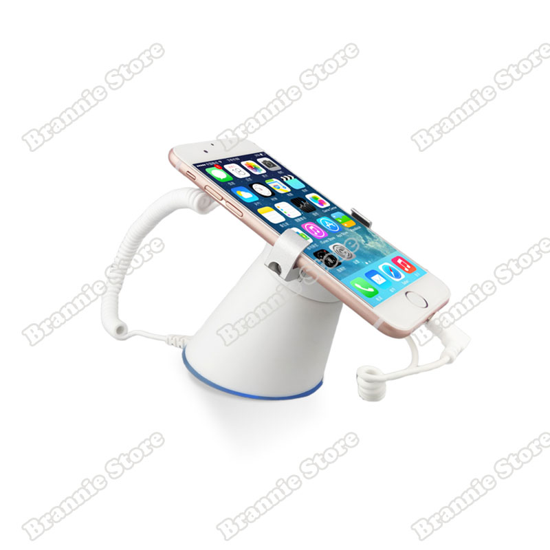 10setlot iphone security display stand ipad alarm device Samsung anti-theft support holder retail protect bracket free shipping