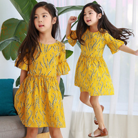 Baby Girls Dress Brand Summer Beach Style Floral Print Party Dresses 2018 New Casual Wear Kids