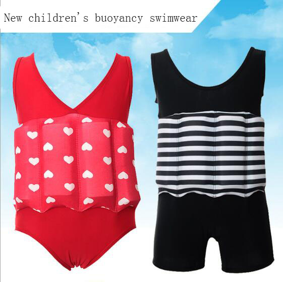 High Quality Childrens Buoyancy Swimwear Removable Floating Siamese Training Swimsuit Sm ...