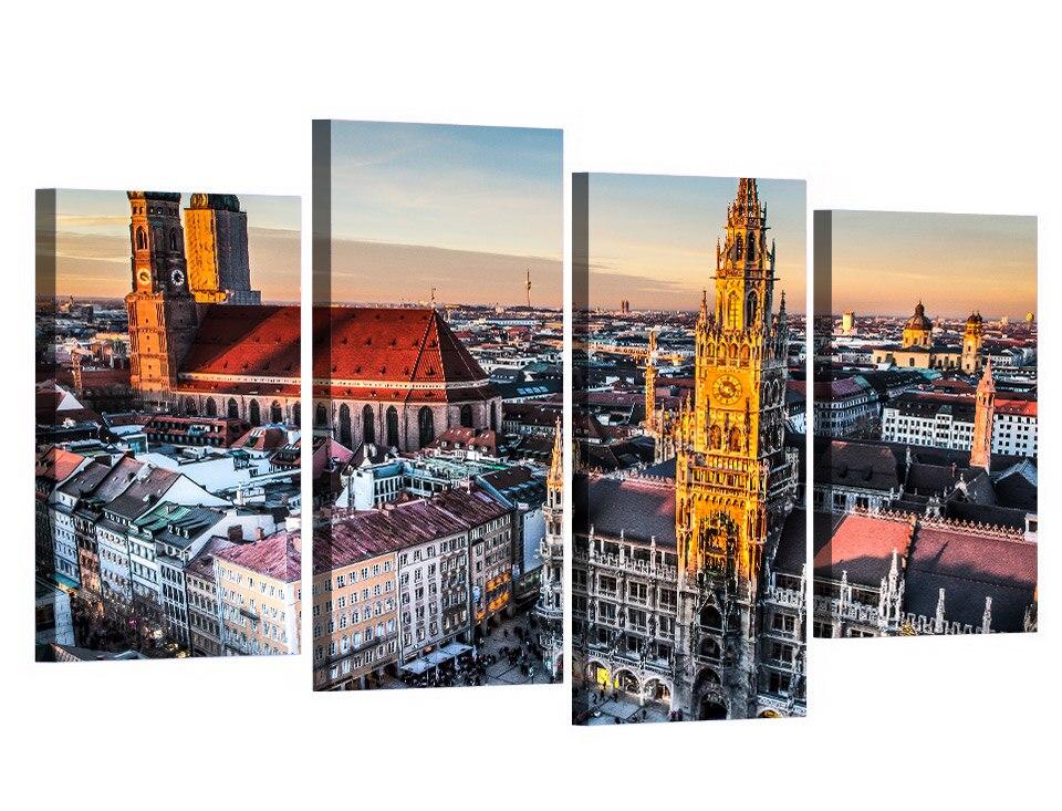 4 Teile/satz Gerahmte HD Gedruckt München Deutschland Bavaria Bild ...
