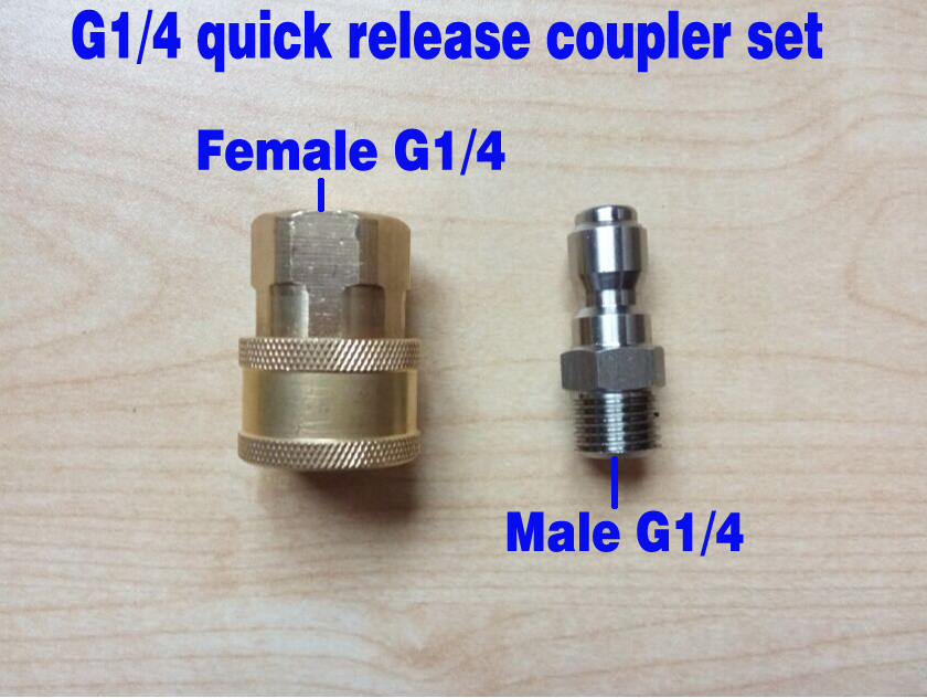 Quick Release Coupler Connector Fitting for High Pressure Washer Gun /& Hose G1//4