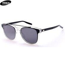 VEGA New Cat Eye Sunglasses Men Women Unisex Fashion Latest Eyewear Anti Glare Visor Glasses Clear Frame Mirrored Lenses 3193