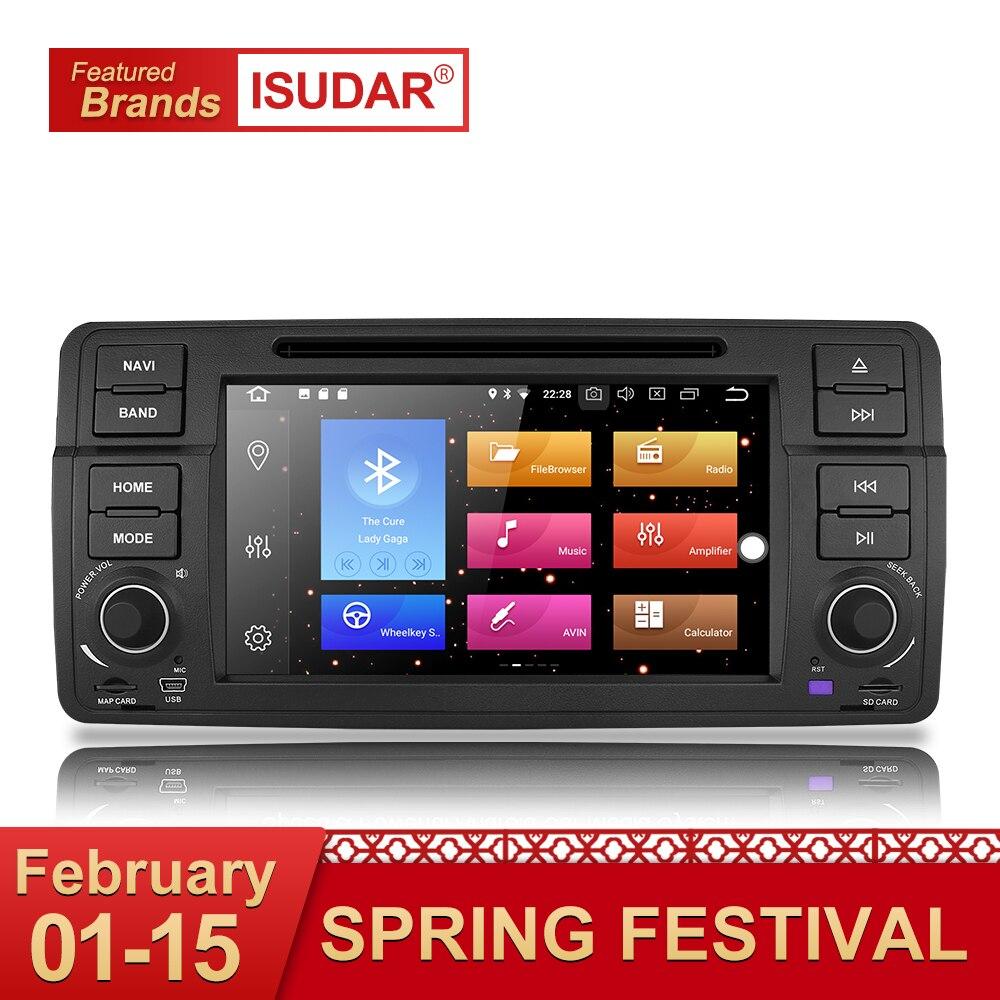Isudar Auto Lettore Multimediale Android 8.0 di GPS Dell'automobile Radio 1 Din Per BMW/E46/3 Serie Canbus Bluetooth radio Videocamera vista posteriore DSP