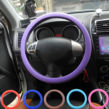 Jingyuqin Silicone Steering Wheel Cover for Kia VW Benz Audi Peugeot Mazda Honda OPEL Skidproof Odorless Eco-Friendly Soft Shell