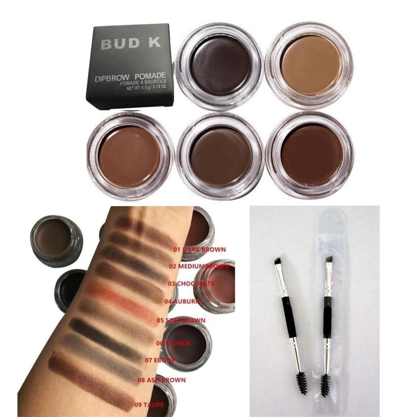 New Cosmetics Brown Color Eyebrow Enhancers Waterproof Eye Brow Filler Pomade Eyebrow Gel Eyebrow brush Brow Definer Pencil Duo