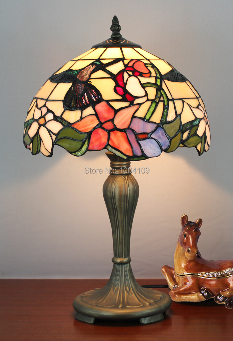 Glass tabletop lamp hummingbird tiffany luminaria table light leaded glass tabletop lamp hummingbird tiffany luminaria table light leaded glass vintage study lamp decorative lighting in table lamps from lights lighting on aloadofball Gallery