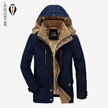 Men Jacket Winter Brand Warm Thicken Coats High Quality Famous Cotton-Padded Fashion Parkas Elegant Business Multi Pocket 4XL
