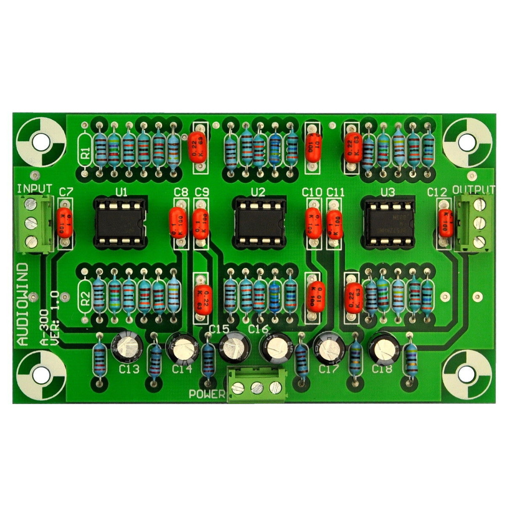 Stereo Phono RIAA Preamplifier Preamp Module Board LM833 N for MM Pickup